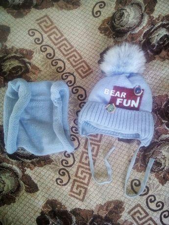 Комплект: шапочка і шарфик