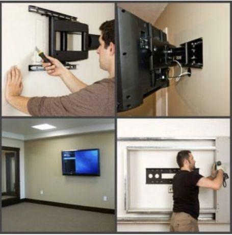 Установка телевизора на стену 200 грн