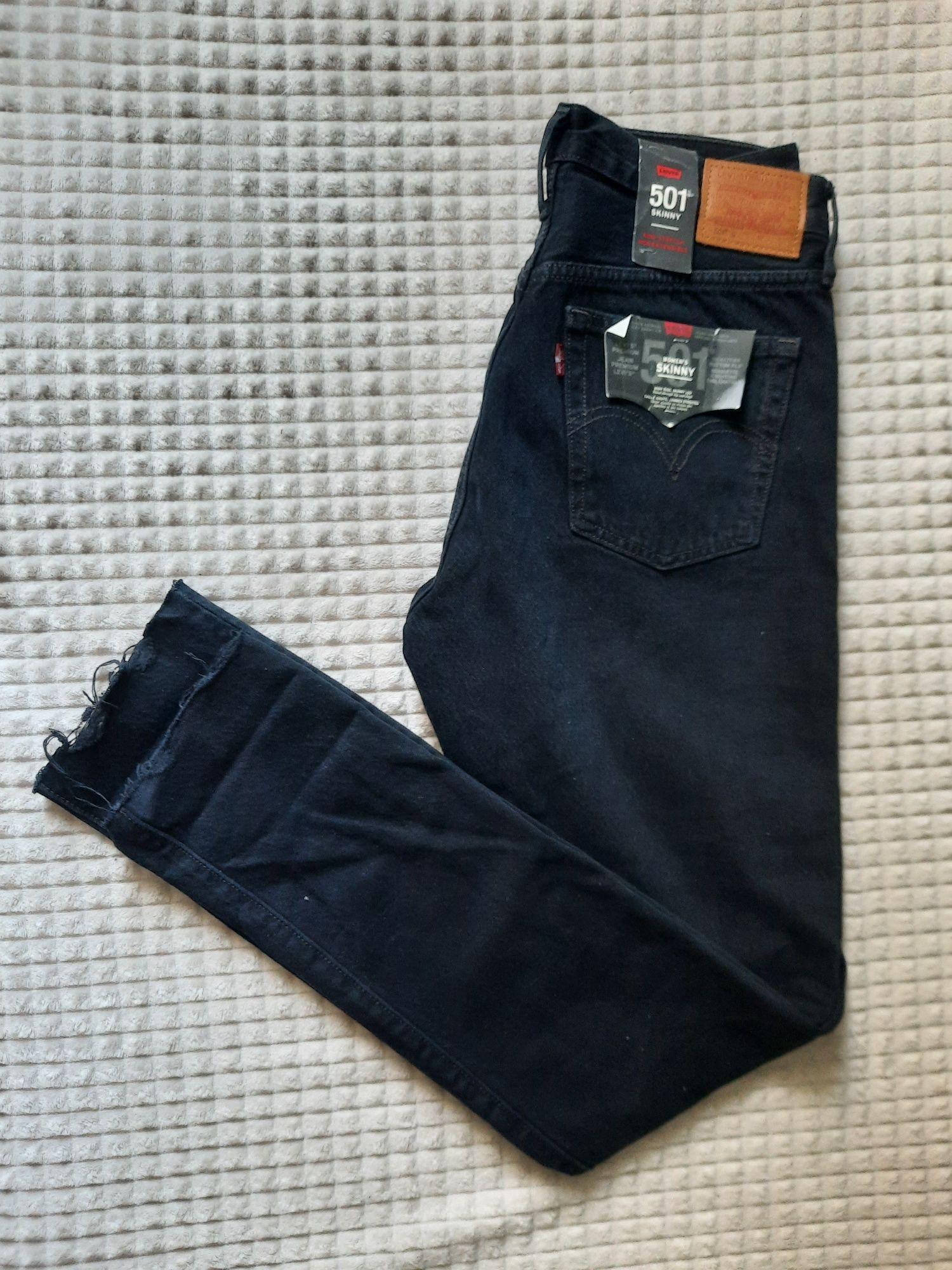 NOWE jeansy Levis skinny 501 czarne