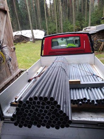 Słupek ogrodzeniowy Słupki rura fi42 Dł. L=200cm gr. 2mm Ocynk nowe