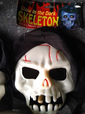 Máscara Caveira – Brilha no Escuro – Halloween e Carnaval