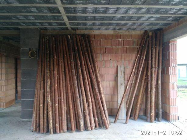 Stemple budowlane 3m drewniane + kliny