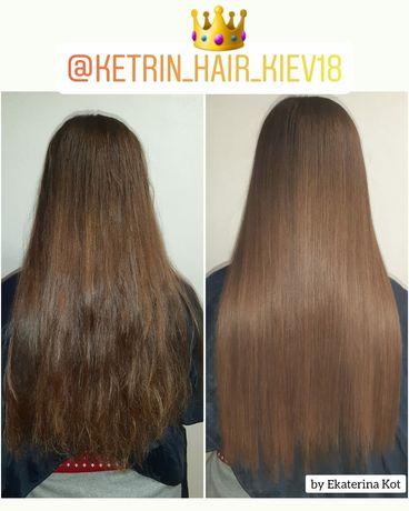 Наращивание волос, кератин