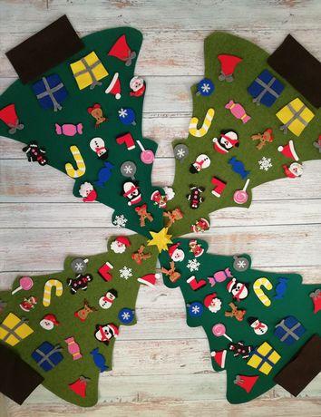 Filcowe choinki Joanny idealny prezent dla dziecka, kreatywna zabawa