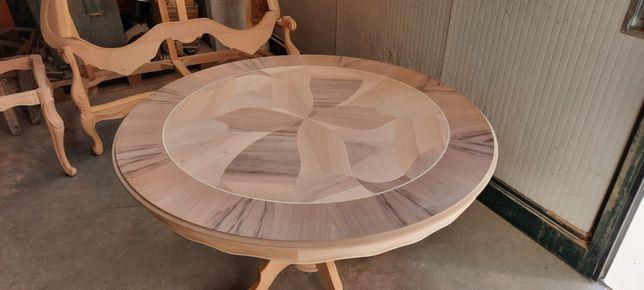Stół okrągły roskładany