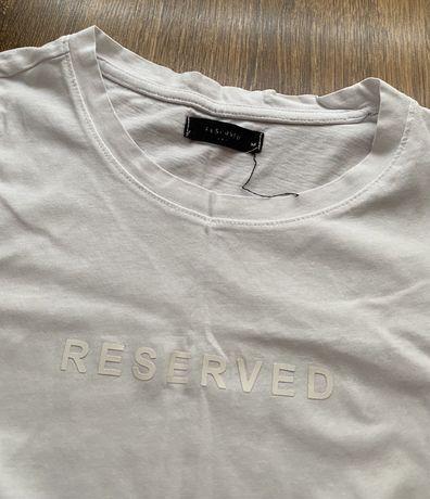 Damska biała koszulka RESERVED, rozmiar M