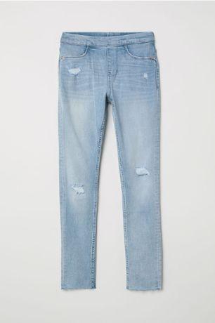 H&M jegginsy legginsy jeansowe 122 NOWE