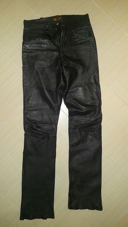 Skórzane spodnie motocyklowe Ledmar naturalna skóra