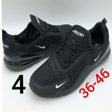 Nowe damskie czarne buty nike air max 270 36,37,38,39,40,41,42,43,44