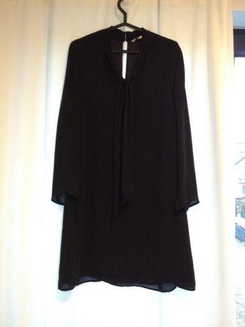 NOWA zwiewna czarna sukienka Kappahl r.40 / mała czarna