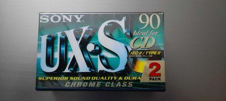 Pack duas cassetes audio virgem