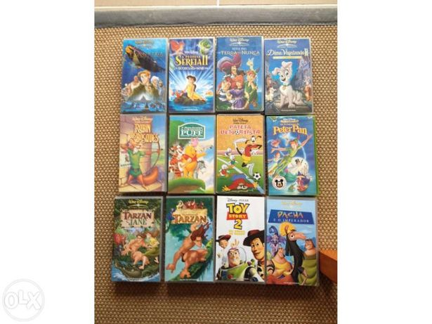 39 Cassetes / K7 video vhs para crianças e jovens
