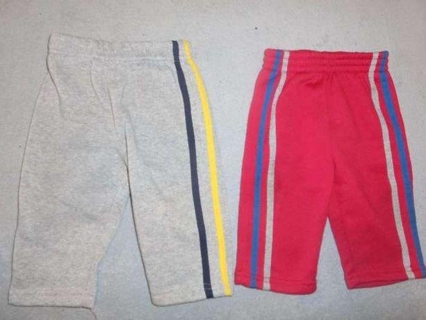 spodnie dla chłopca, chłopięce szare i czerwone sportowe 74, 80