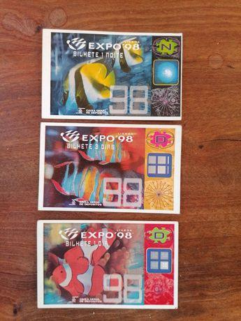 3 Bilhetes Expo 98