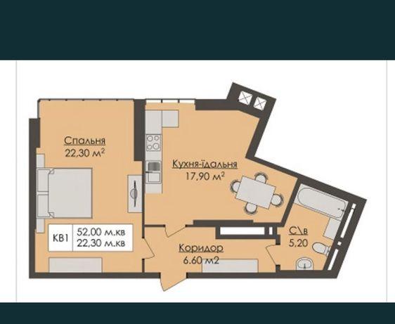 Просторная квартира ( 52 кв.) в новом доме