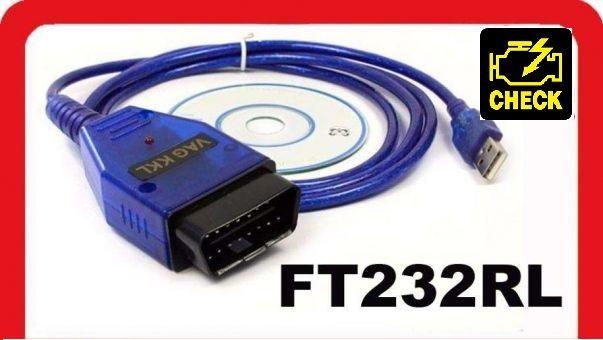 Сканер OBD2 K-Line FTDI KKL 409.1 USB ( RU программы) . Наличие!