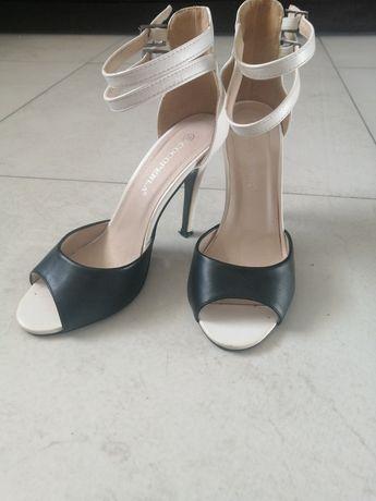 Buty biało czarne rozm 38