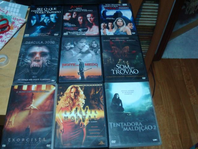 lote 18 dvds terror alguns raros ,tubarao,