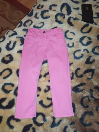 Розовые джинсы для девочки skinny узкачи