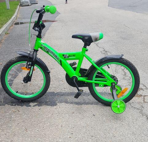 Rower dziecięcy 12 cali dla chłopca Zielony/neon
