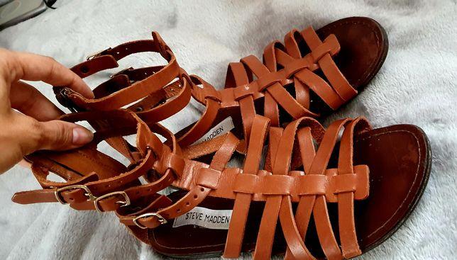 Sandałki rzymianki skórzane skóra Steve Madden r. 38