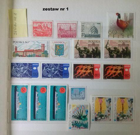 Znaczki pocztowe czyste (1960/1992)