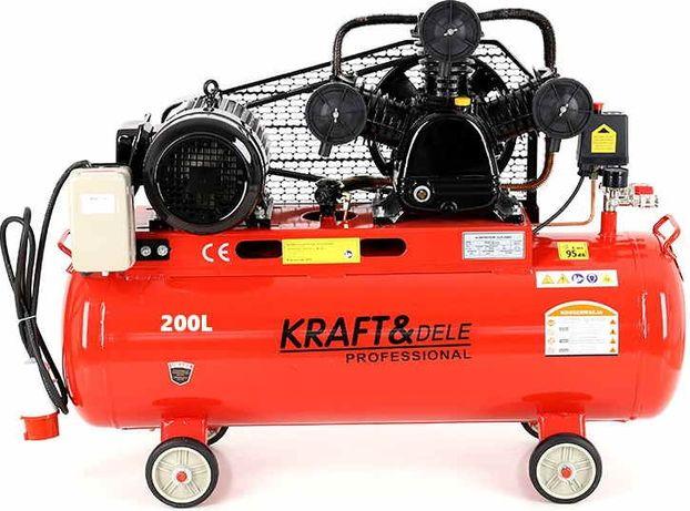 Kompresor olejowy 200l sprężarka 720l/min, 380v/400v trzytłokowy 6,5km