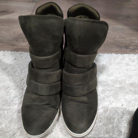 Ciepłe sneakersy khaki