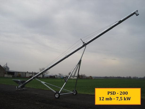 PRZENOŚNIK ŚLIMAKOWY FI 200 zasyp silosów 45t/h