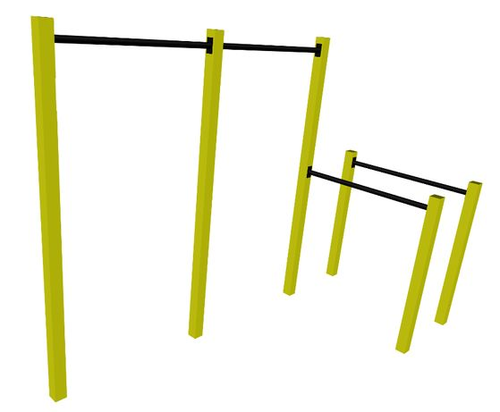 Plac Park Street Workout Drążek podciągania + poręcze pompek CROSSFIT