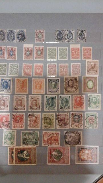 Продам 7 кляссеров марок с времен Российской империи до 1992 года