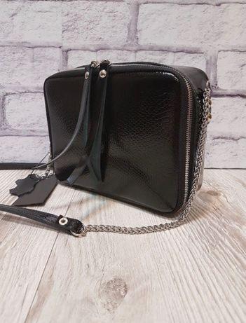 Красивая Женская сумочка полностью натур.кожа лак!