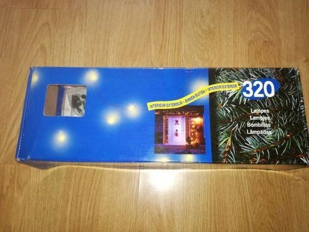 iluminaçao natal em rede com 320 lâmpadas