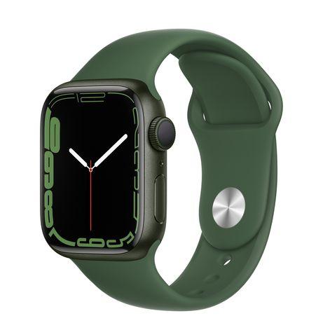 Apple Watch 7 41 mm Green Aluminum Clover Sport GPS