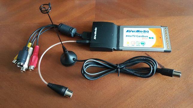 Placa PCMCIA de Vídeo/TV/Rádio FM AVerMédia