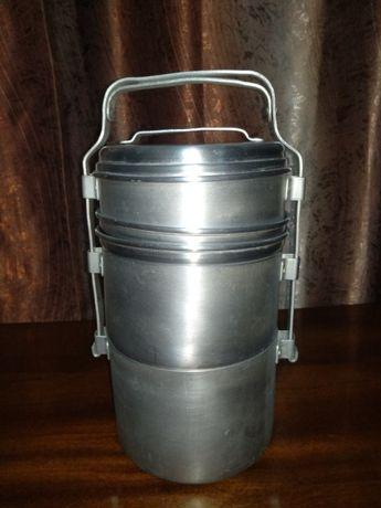 Туристический набор алюминиевой посуды сделано в СССР