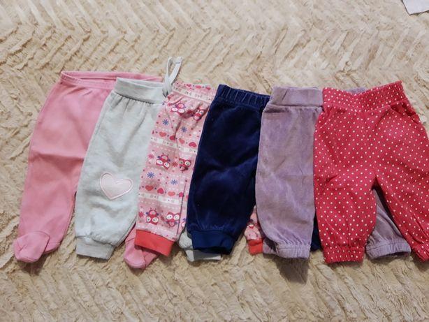 Paczka - Spodnie niemowlęce 6 sztuk, rozmiar 62cm