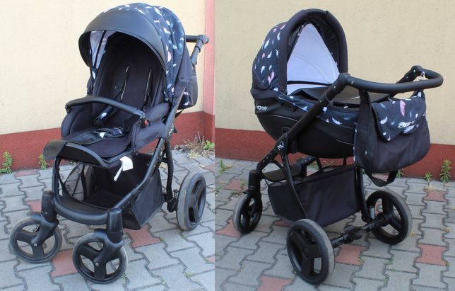 3w1  Wózek Spacerówka Gondola Fotelik BabyActive Mommy 13 Air