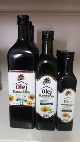 Olej słonecznikowy tłoczony na zimno , nierafinowany