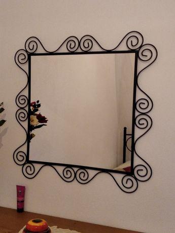 Espelho quadrado grande ferro preto ikea