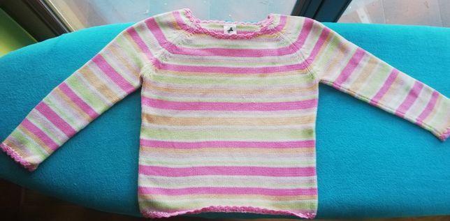 Śliczny, kolorowy sweterek firmy C&A - rozmiar 122 cm.