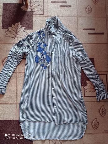 Красива жіноча сорочка,туніка(в подарунок нова футболка)