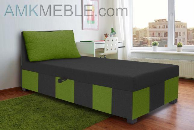 Tapczan jednoosobowy sofa łóżko młodzieżowe tapicerowane Nowość!