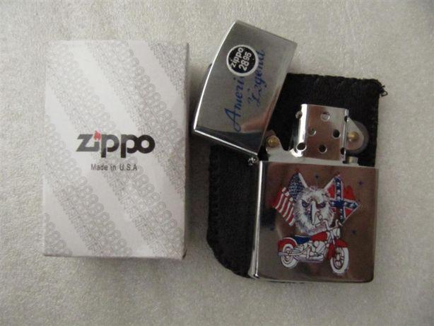Зажигалка подарочная Zippo, бензиновая, Bradford USA, чехол, новая