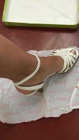 кожаные мягкие фирменные босоножки Gabor- каблук-7см