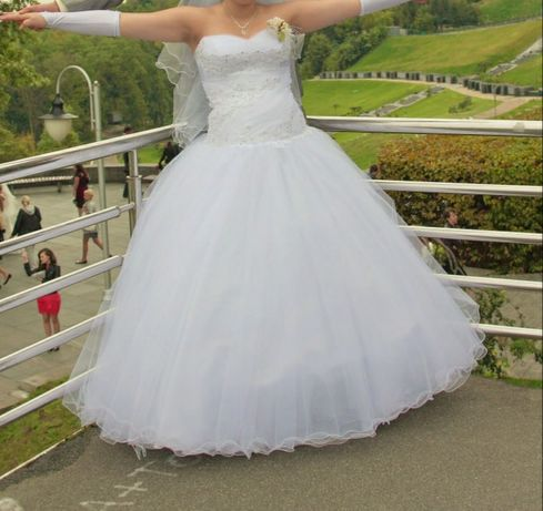 Свадебное платье даже для беременяшек