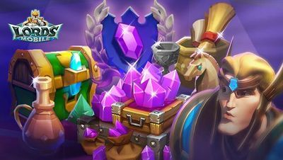 Продам lords mobile кристали,  ресурси