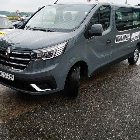 Wynajem 9 osobowy BUS-wypożyczalnia Renault Trafic 2.0 dci -long