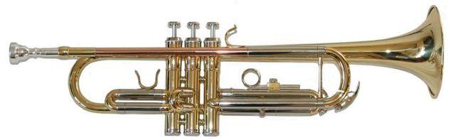 Trompete dourado novo Karl Glaser