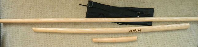 Комплект для айкідо: дзе, боккен  102 см, танто